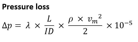 KRAH - Hydraulic calculation of PE pressure pipes