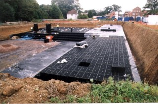geocellular stormwater attenuation